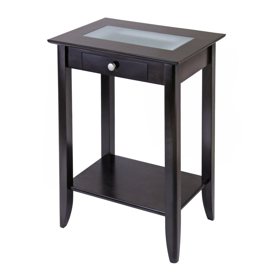 Winsome Wood Syrah Dark Espresso Rectangular End Table