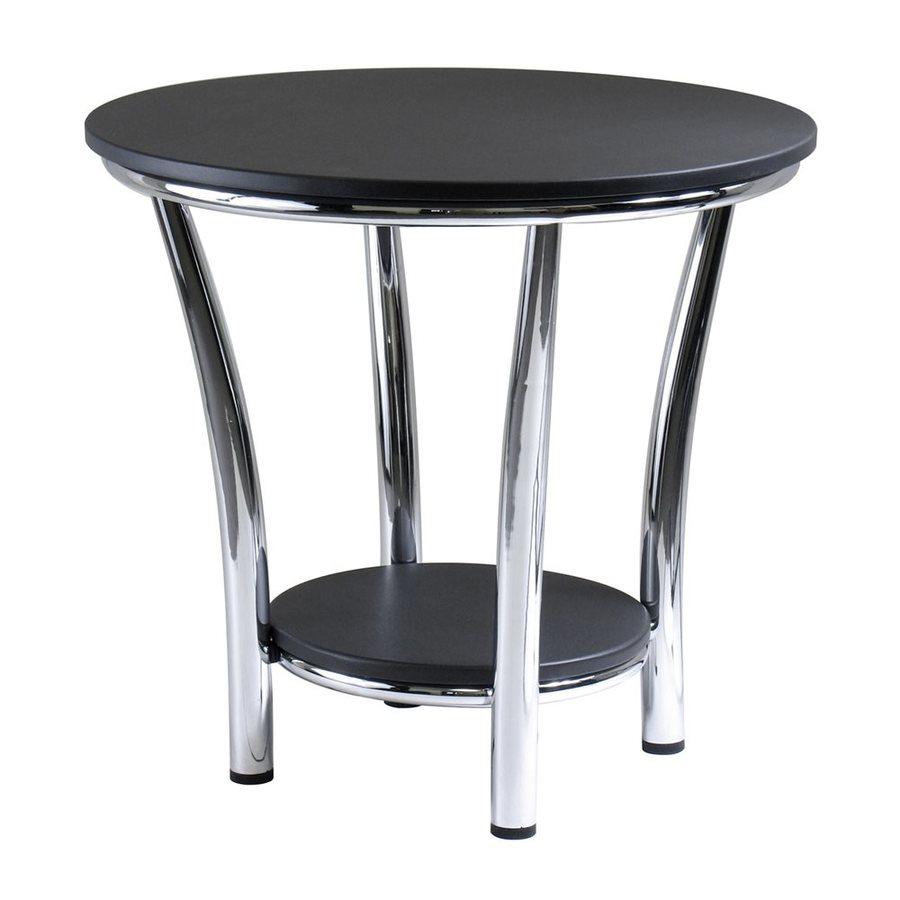 Winsome Wood Maya Black/Metal Round End Table