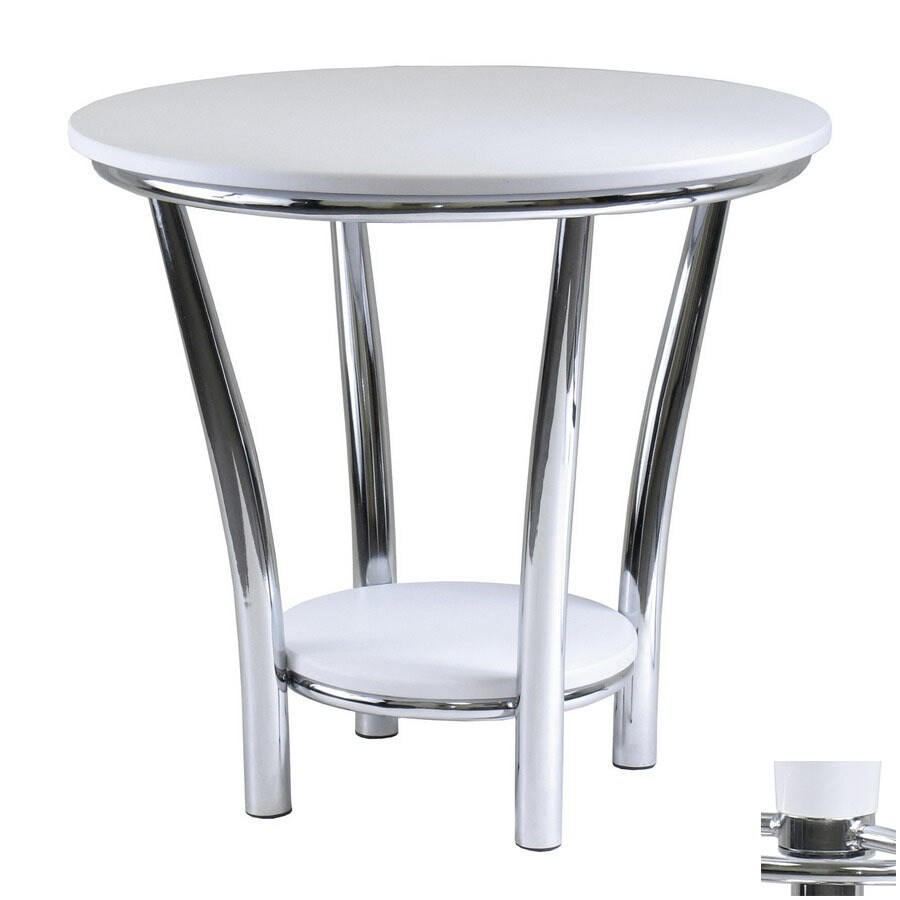 Winsome Wood Maya White Metal Round End Table At Lowes.com