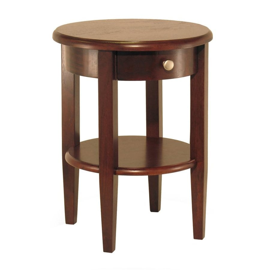 Winsome Wood Antique Walnut Round End Table