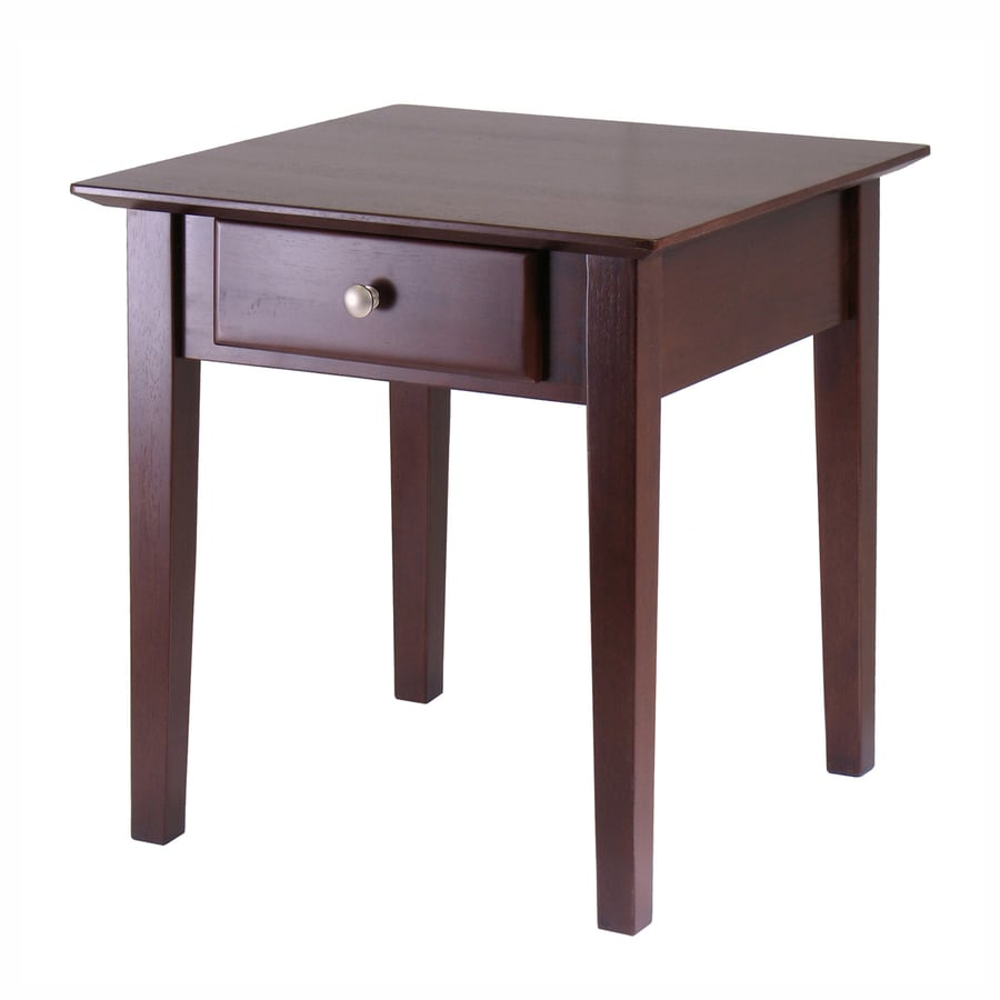 Winsome Wood Rochester Antique Walnut Square End Table