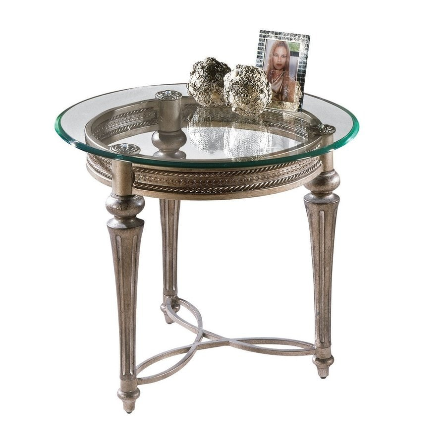 Magnussen Home Galloway Subtle Gold Round End Table