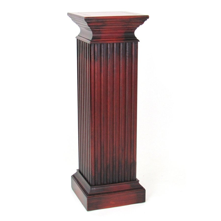 Shop wayborn furniture greek 42 in cherry indoor square Plant stands for indoors