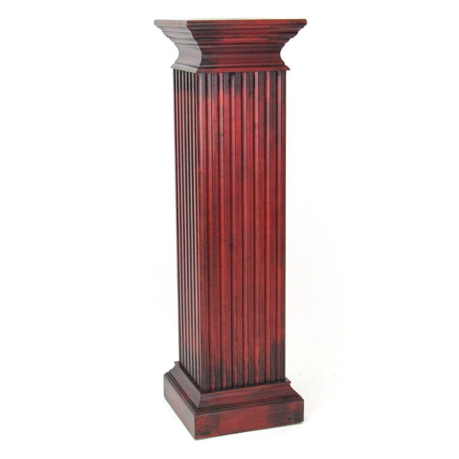 Wayborn Furniture Greek 48-in Cherry Indoor Square Wood Plant Stand