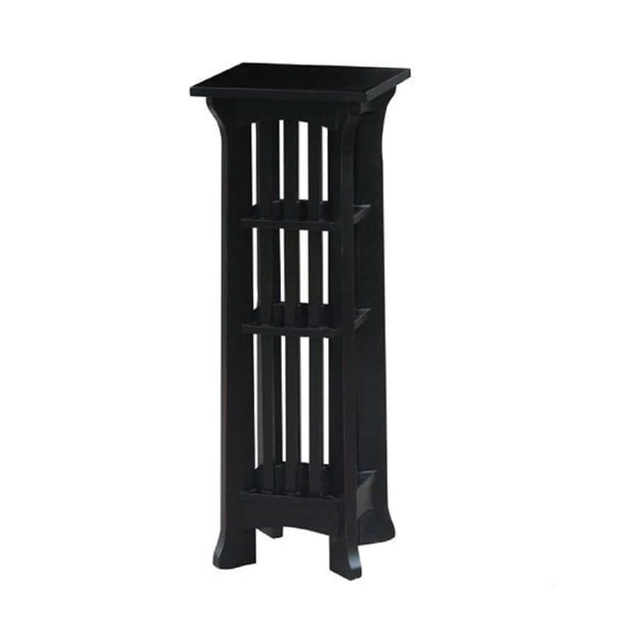 Wayborn Furniture Temple 36-in Black Indoor Square Wood Plant Stand