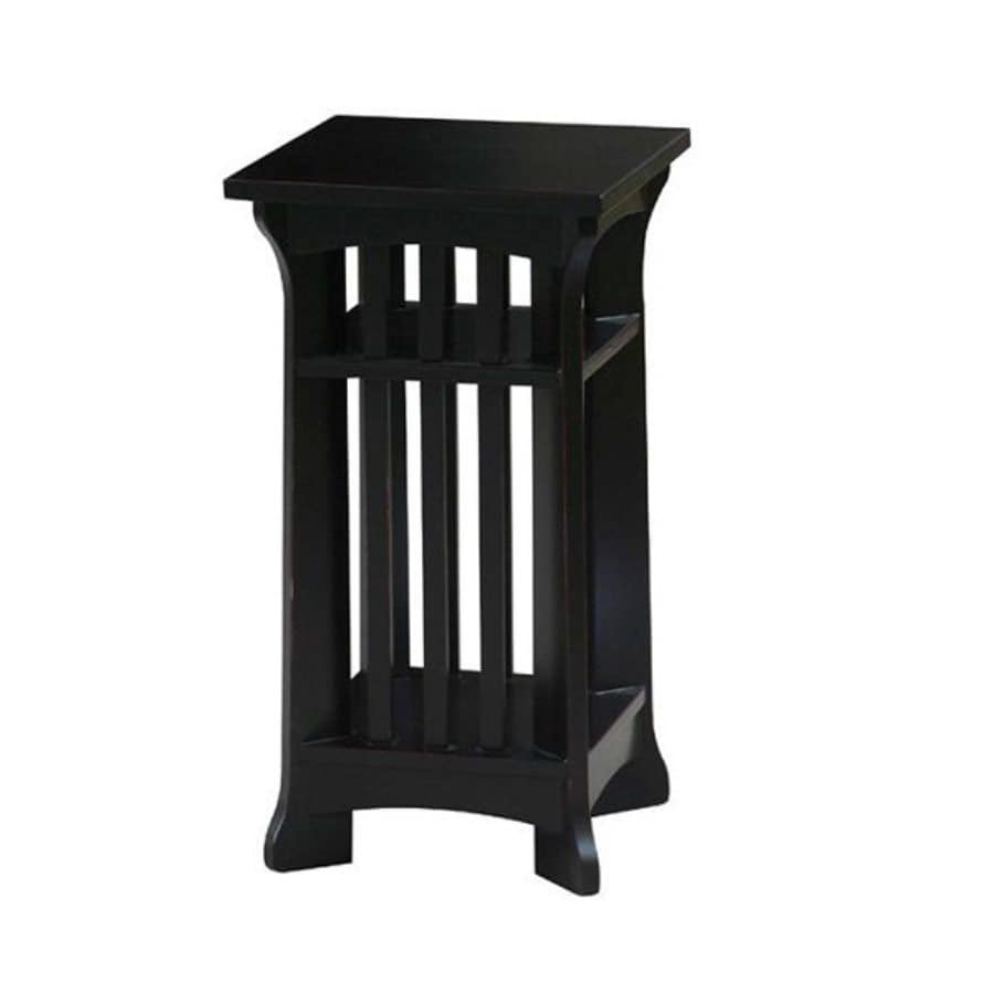 Wayborn Furniture Temple 24.5-in Black Indoor Square Wood Plant Stand