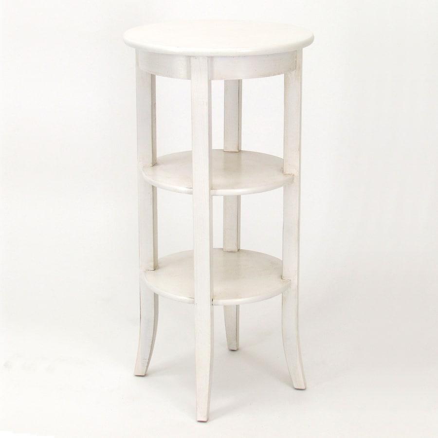 Wayborn Furniture Wallace 36 In Whitewash Indoor Round Wood Plant Stand