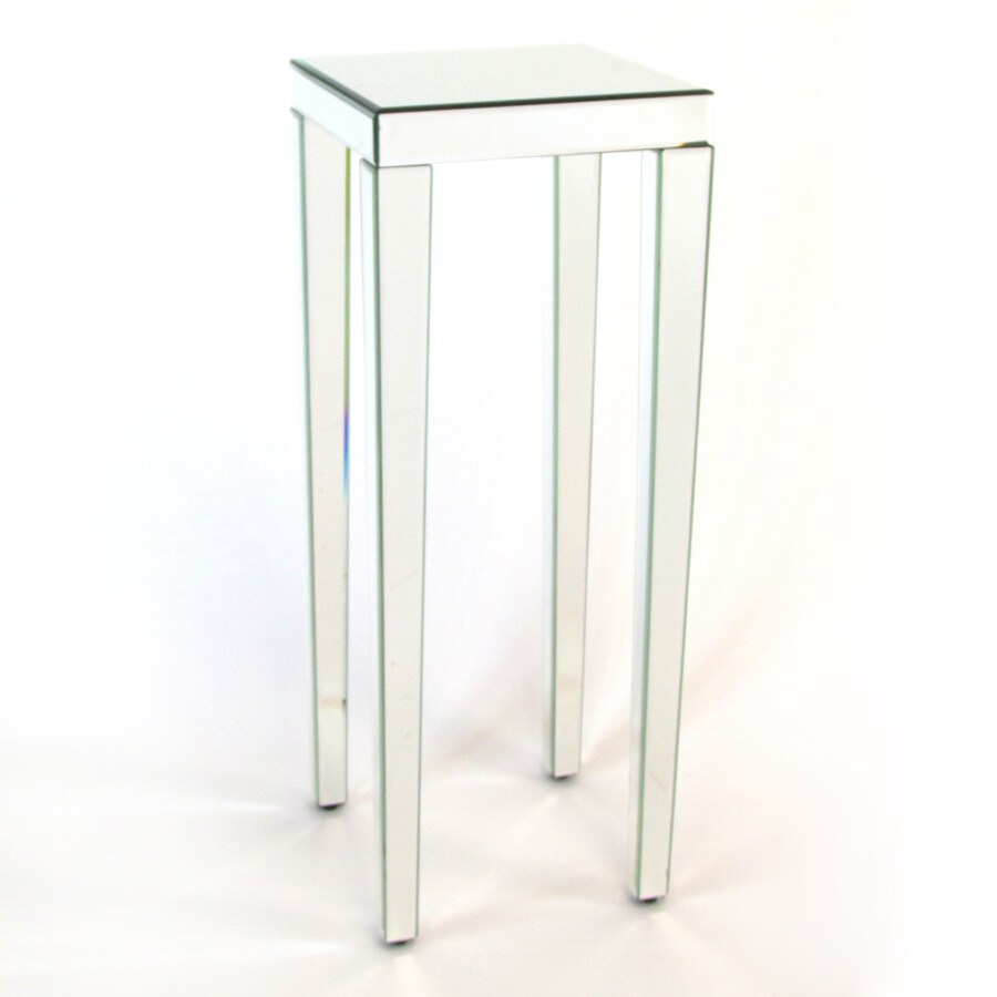 Shop wayborn furniture 36 in mirror indoor square glass Plant stands for indoors