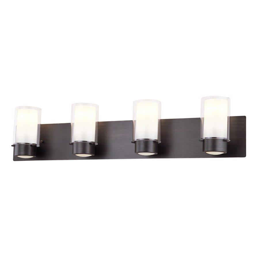 DVI Essex 4-Light 7.5-in Oil-Rubbed Bronze Cylinder Vanity Light