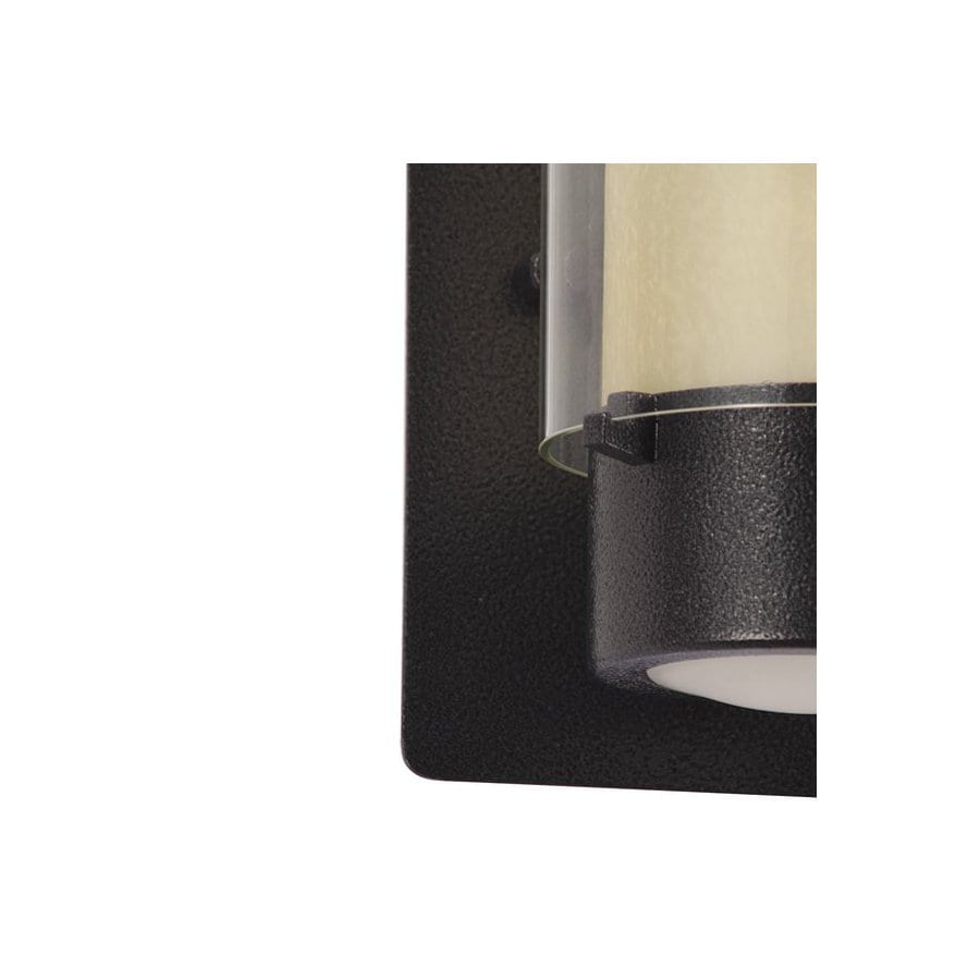 DVI Essex 7-1/2-in Hammered Black Outdoor Wall Light