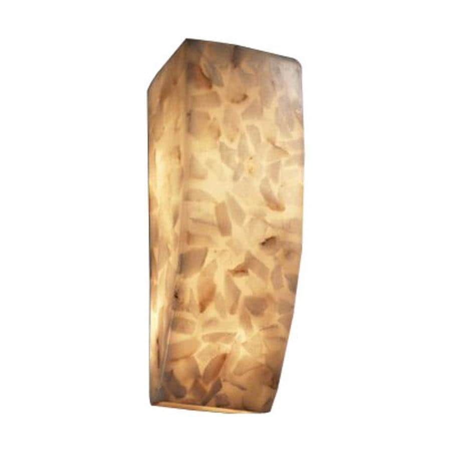Cascadia Lighting Alabaster Rocks 5.5-in W 1-Light Pocket Hardwired Wall Sconce