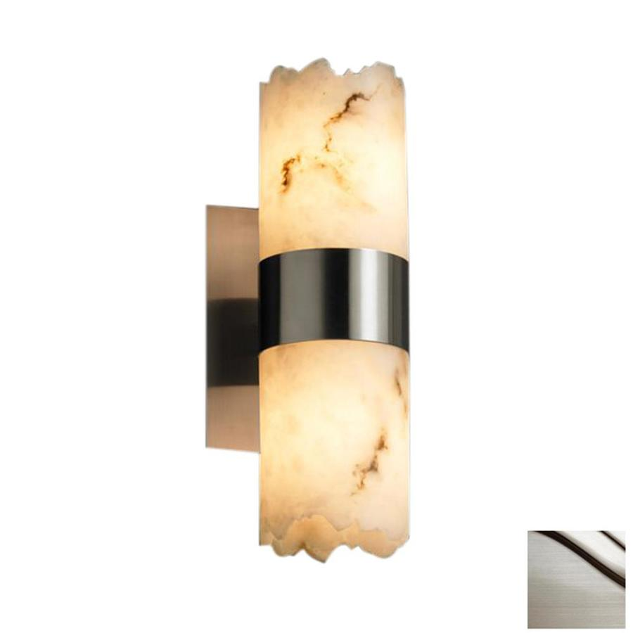 Cascadia Lighting Lumenaria Dakota 5-in W 2-Light Brushed Nickel Pocket Wall Sconce