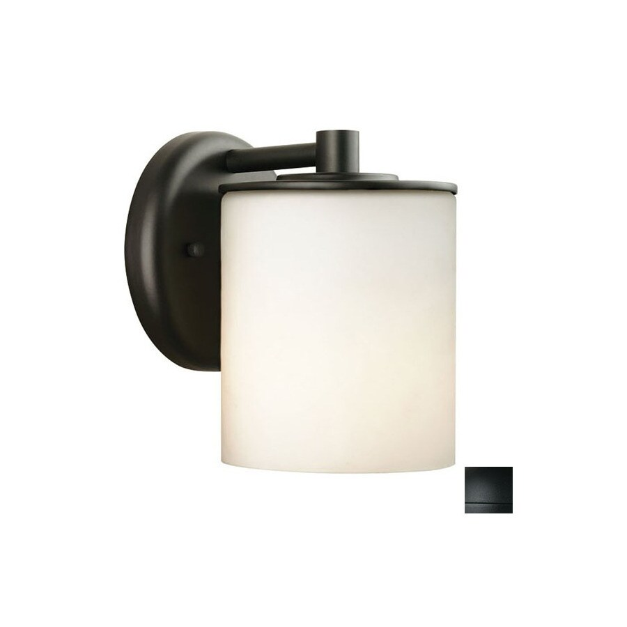 Philips Forecast 7-in H Black Outdoor Wall Light