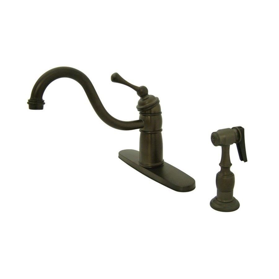 Elements of Design New Orleans Oil-Rubbed Bronze 1-Handle Deck Mount Low-Arc Kitchen Faucet