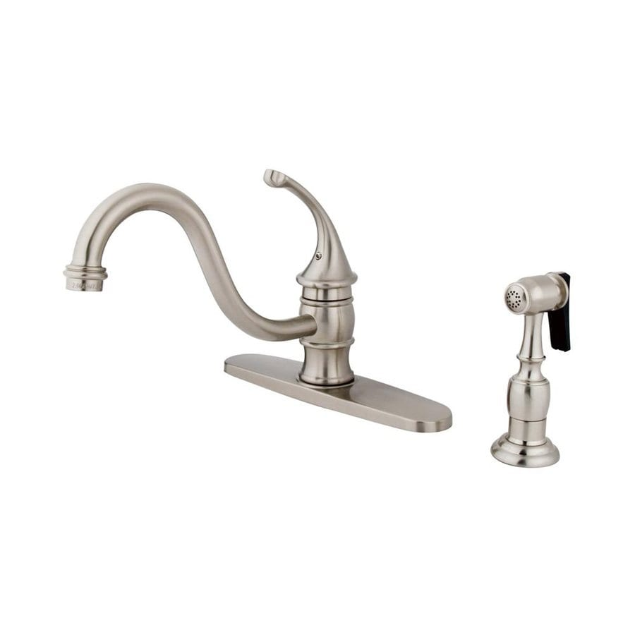 Elements of Design Georgian Satin Nickel 1-Handle Low-Arc Kitchen Faucet