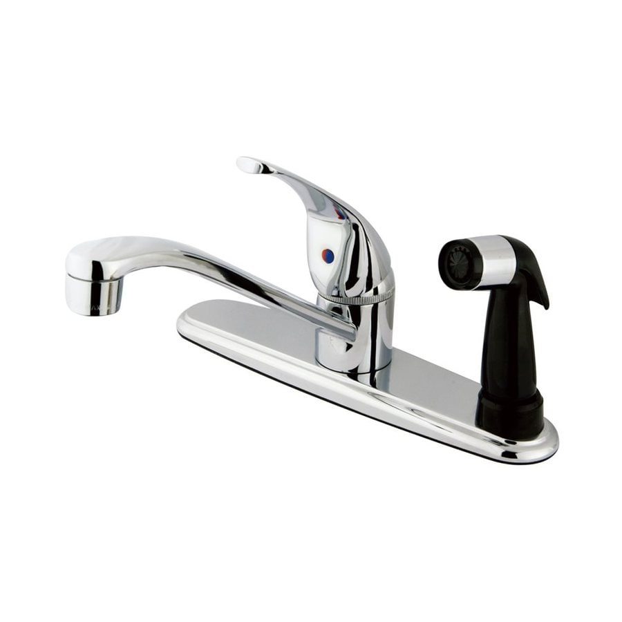 Shop Elements Of Design Chatham Chrome 1 Handle Deck Mount Low Arc Kitchen Faucet At