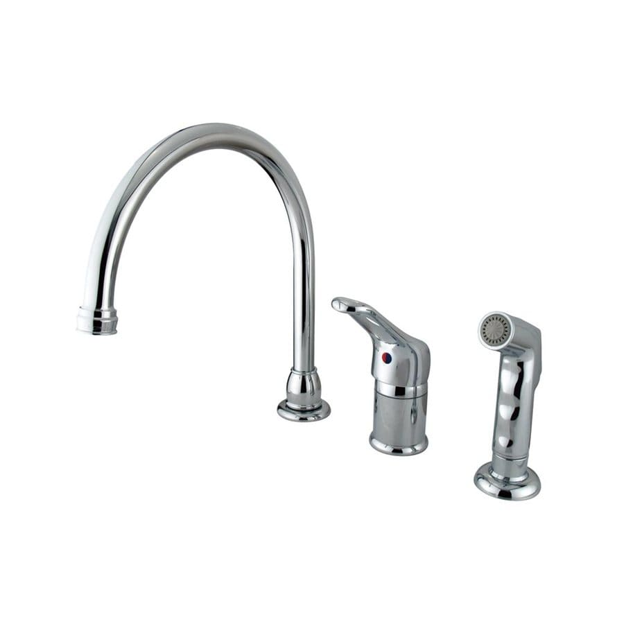 Elements of Design Chrome 1-Handle High-Arc Kitchen Faucet with Side Spray
