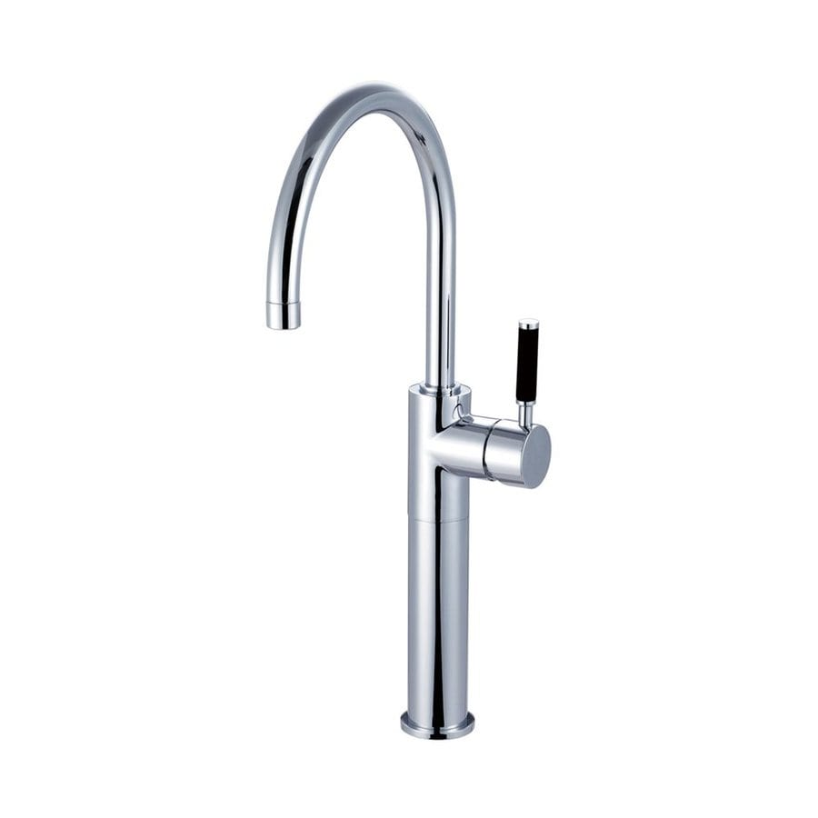 Shop Elements Of Design Kaiser Polished Chrome 1 Handle Deck Mount High Arc Kitchen Faucet At