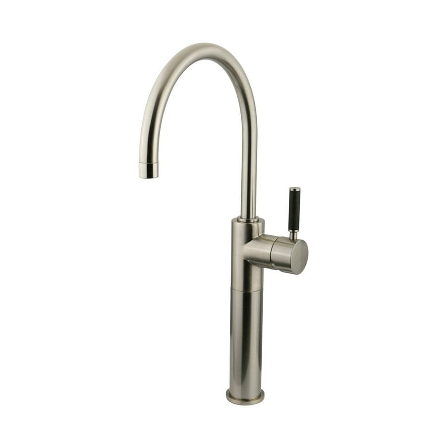 Elements of Design Kaiser Satin Nickel 1-Handle High-Arc Kitchen Faucet