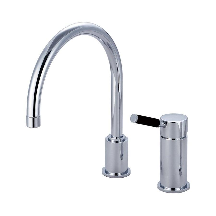 Elements of Design Kaiser Polished Chrome 1-Handle Deck Mount High-Arc Kitchen Faucet