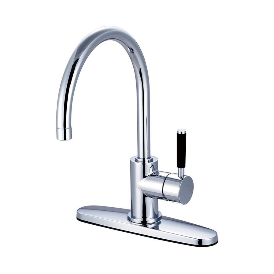 Elements of Design Kaiser Polished Chrome 1-Handle High-Arc Kitchen Faucet