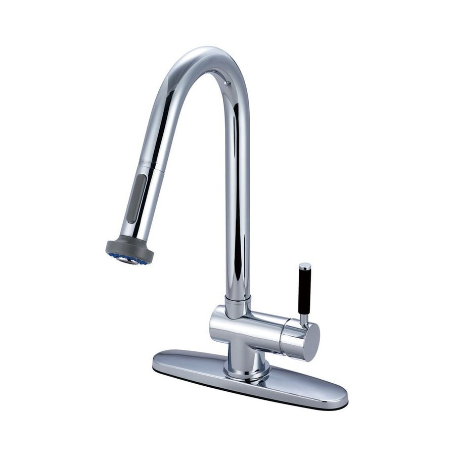 Elements of Design Kaiser Polished Chrome 1-Handle Pull-Out Kitchen Faucet