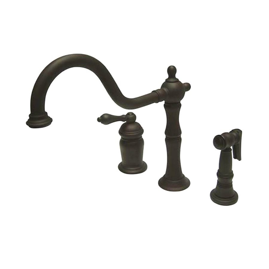 Elements of Design Oil-Rubbed Bronze 1-Handle Deck Mount Low-Arc Kitchen Faucet