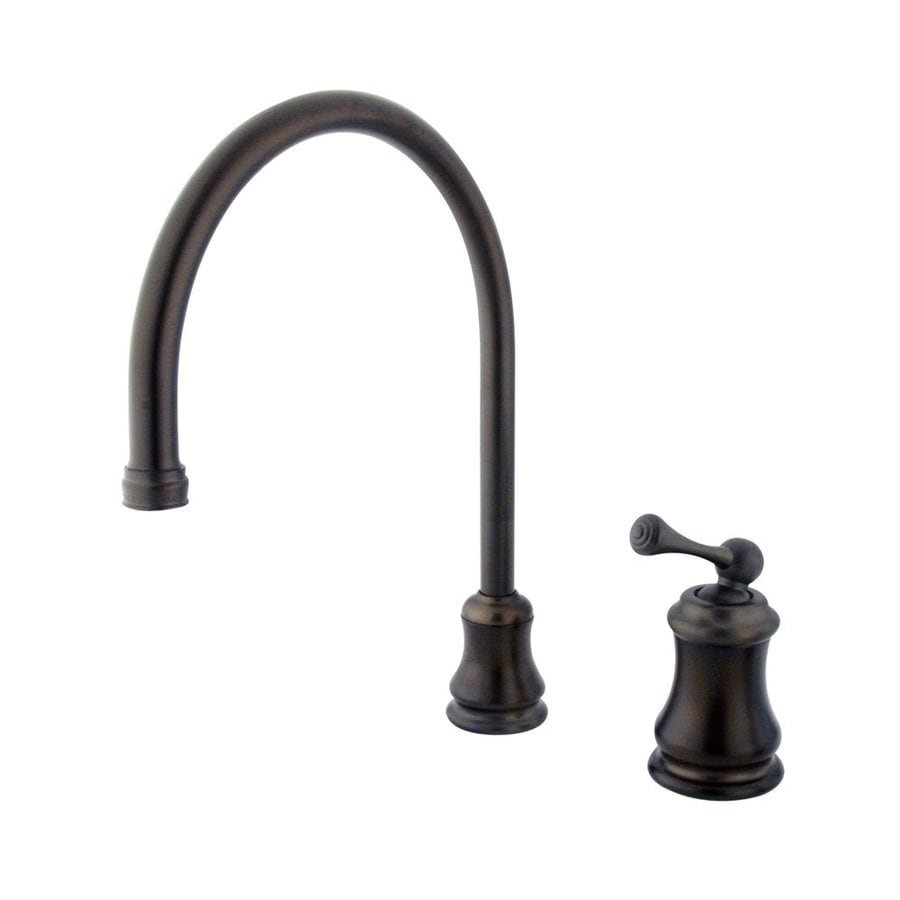Elements of Design Chicago Oil-Rubbed Bronze 1-Handle Deck Mount High-Arc Kitchen Faucet