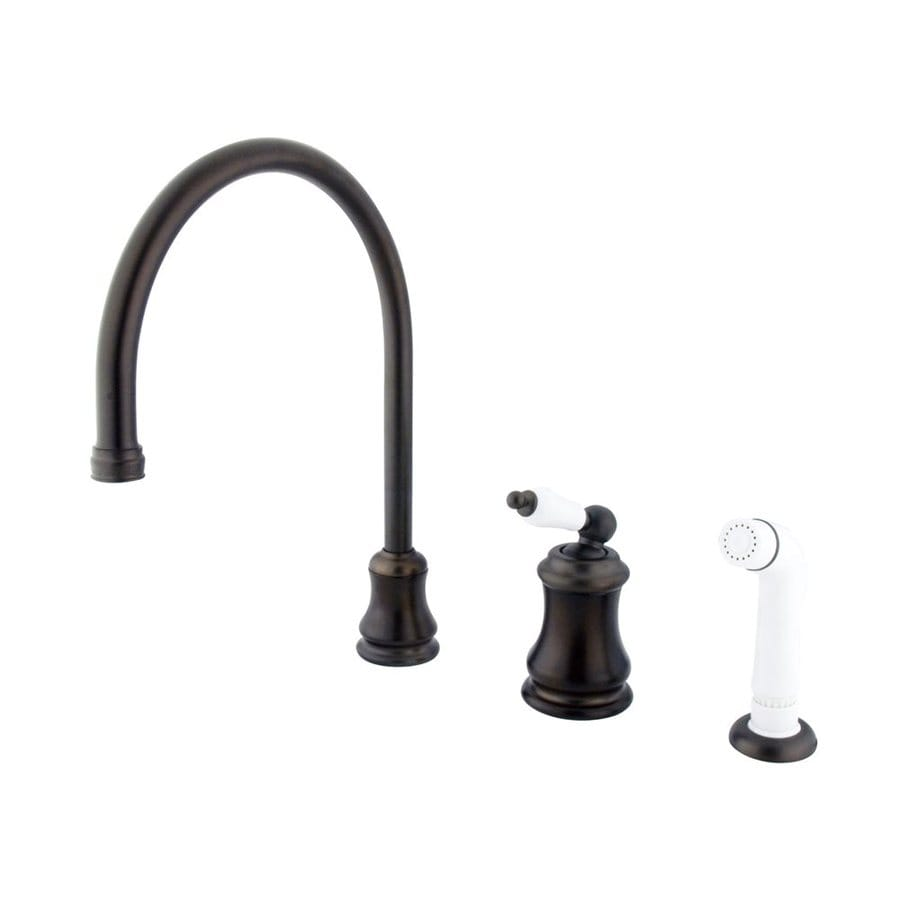 Elements of Design Chicago Oil-Rubbed Bronze 1-Handle High-Arc Kitchen Faucet with Side Spray