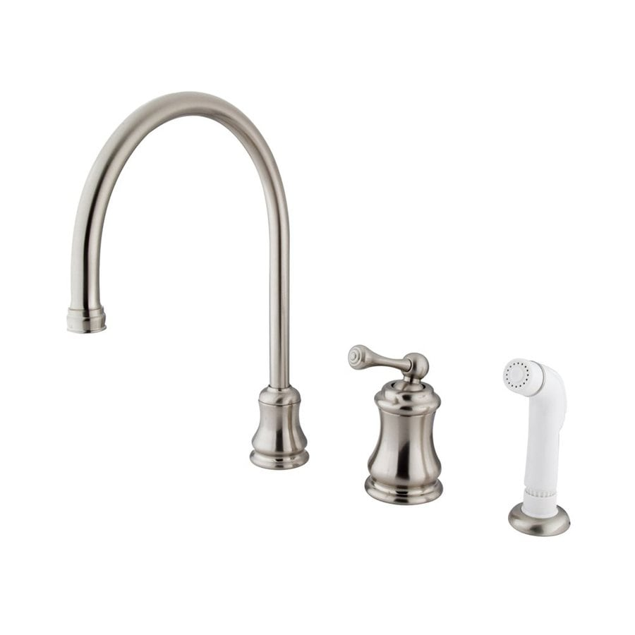 Elements of Design Chicago Satin Nickel 1-Handle High-Arc Kitchen Faucet