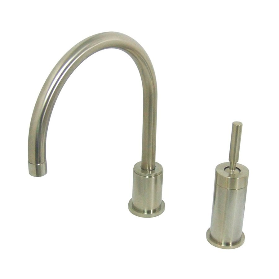 Elements of Design Templeton Satin Nickel 1-Handle High-Arc Kitchen Faucet