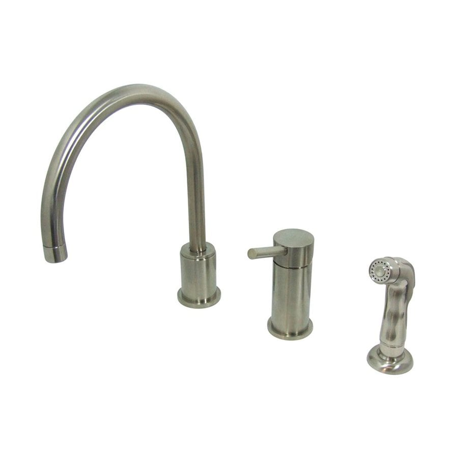 Elements of Design Concord Satin Nickel 1-Handle High-Arc Kitchen Faucet