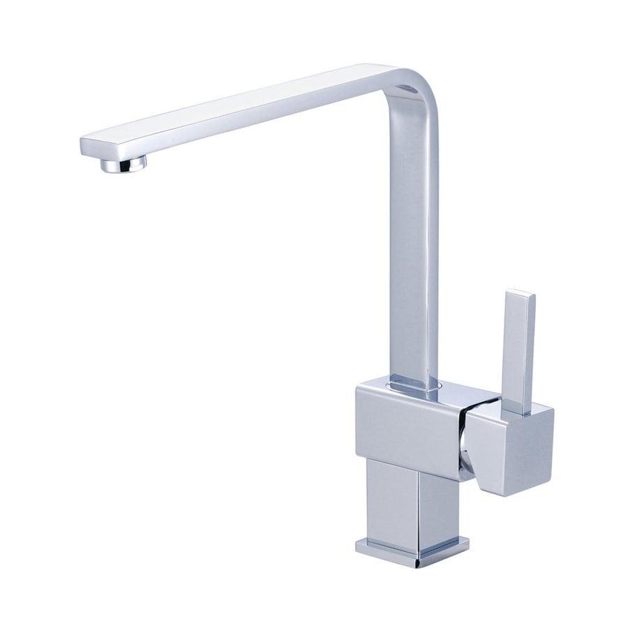 Elements of Design Claremont Chrome 1-Handle High-Arc Kitchen Faucet