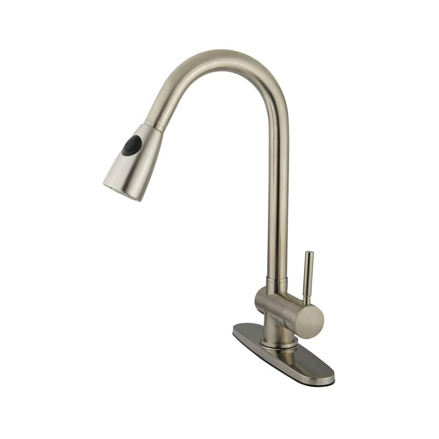 Elements of Design Concord Satin Nickel 1-Handle Pull-Out Kitchen Faucet