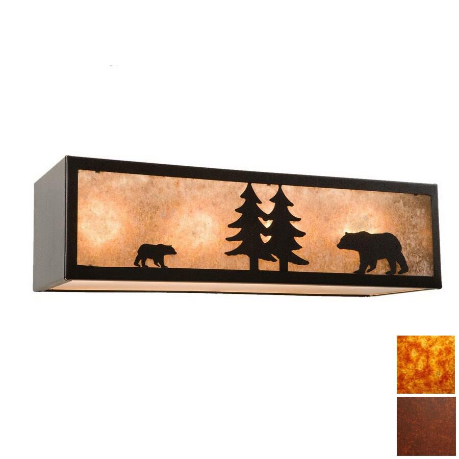 Steel Partners 4-Light Bear Rust Bathroom Vanity Light