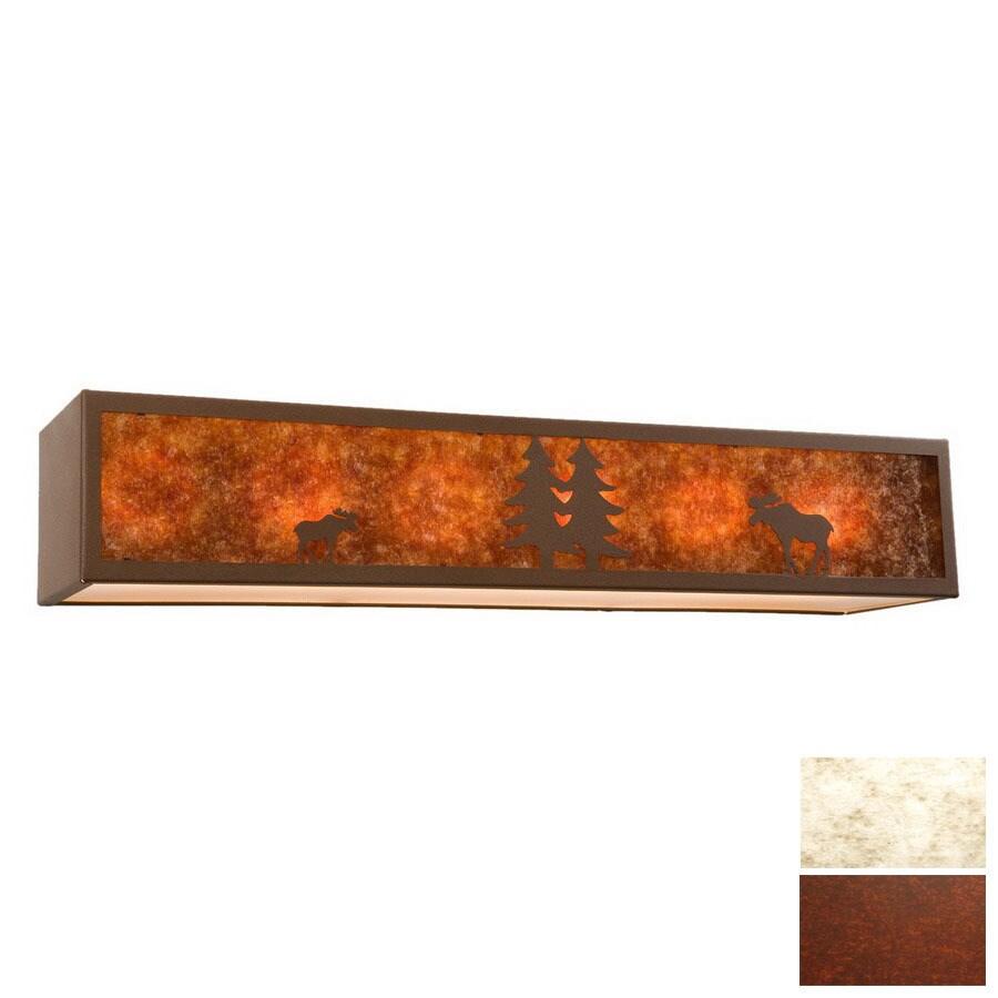 Steel Partners 6-Light Moose Rust Bathroom Vanity Light