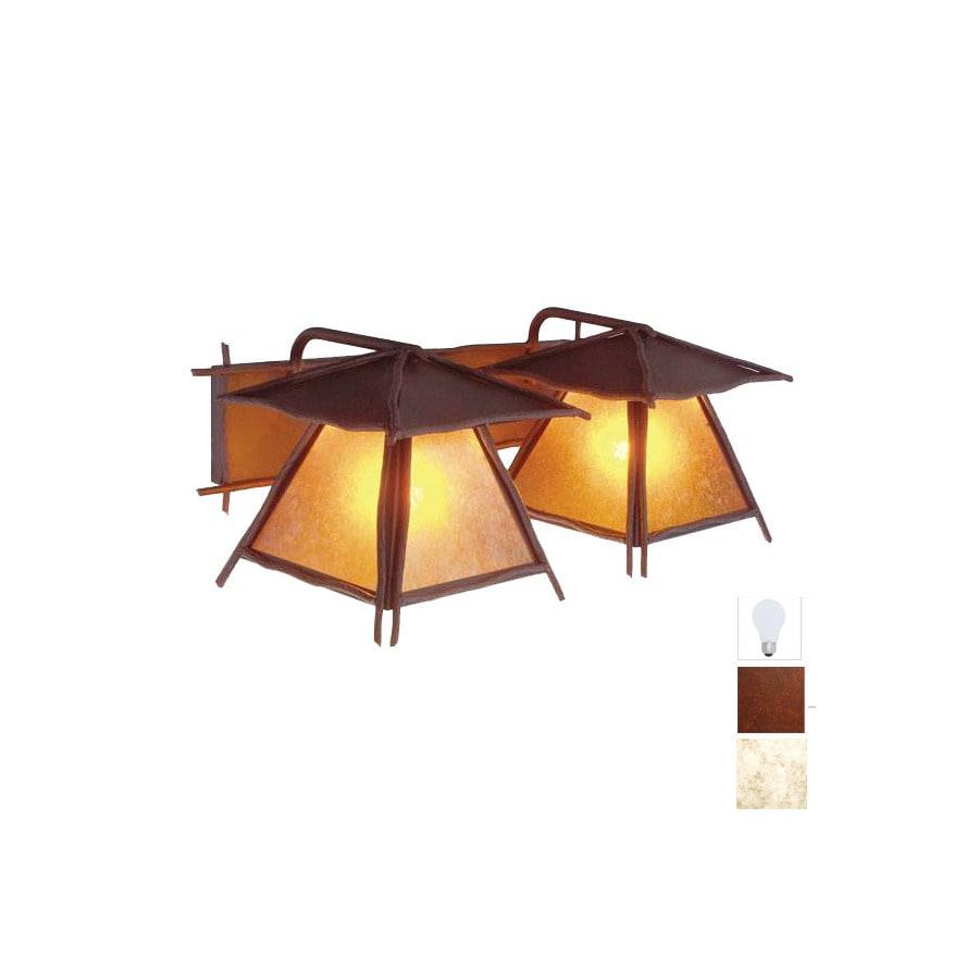 Steel Partners 2-Light Bundle Of Sticks Rust Bathroom Vanity Light