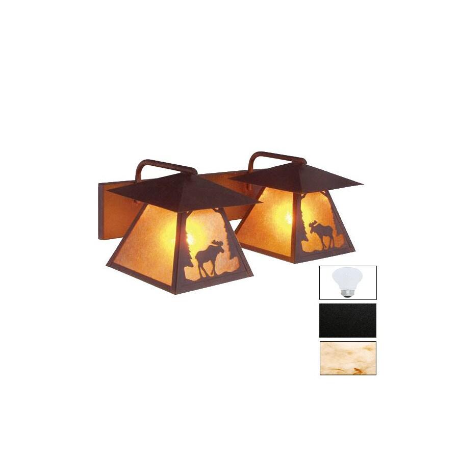 Steel Partners 2-Light Moose Black Bathroom Vanity Light
