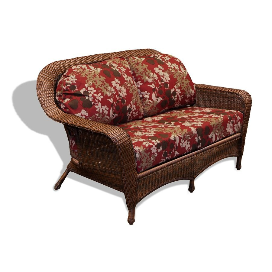 Tortuga Outdoor Lexington Floral Cushion Java Wicker Loveseat