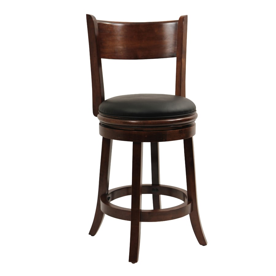 Boraam Industries Palmetto Chestnut Counter Stool At Lowes Com