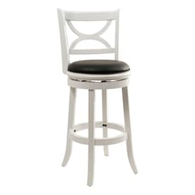 Boraam Industries Florence Country Cottage White Sandthru Bar Stool