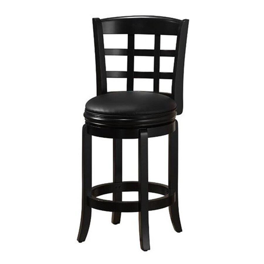 Boraam Industries Kyoto Black Counter Stool At Lowes Com