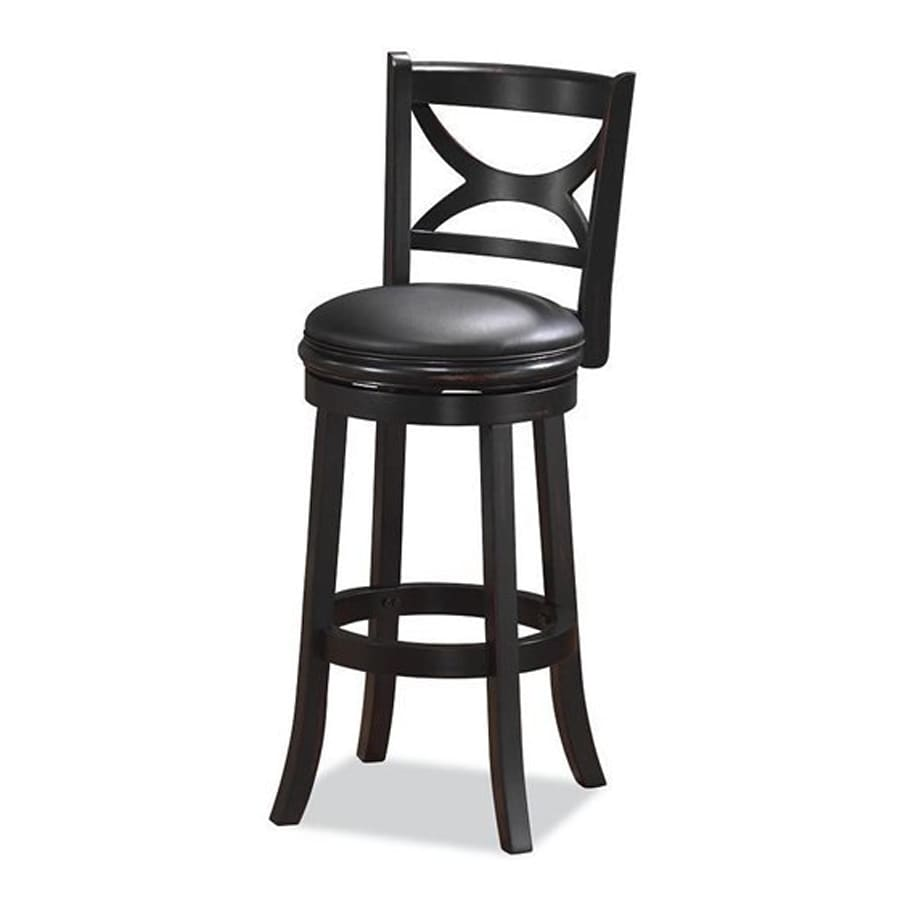 Boraam Industries Florence Black Sandthru 24-in Counter Stool