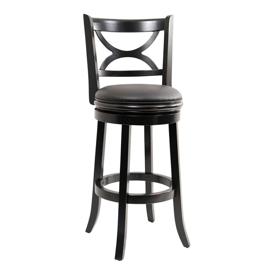 Boraam Industries Florence Black Sandthru 29-in Bar Stool