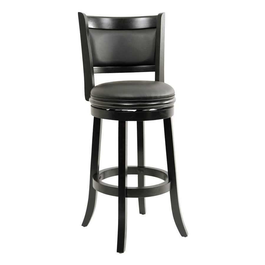 Boraam Industries Augusta Black 29-in Bar Stool