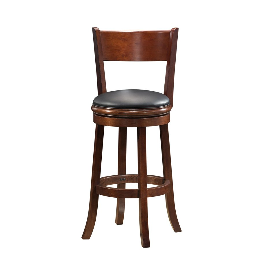 Boraam Industries Palmetto Walnut 29-in Bar Stool