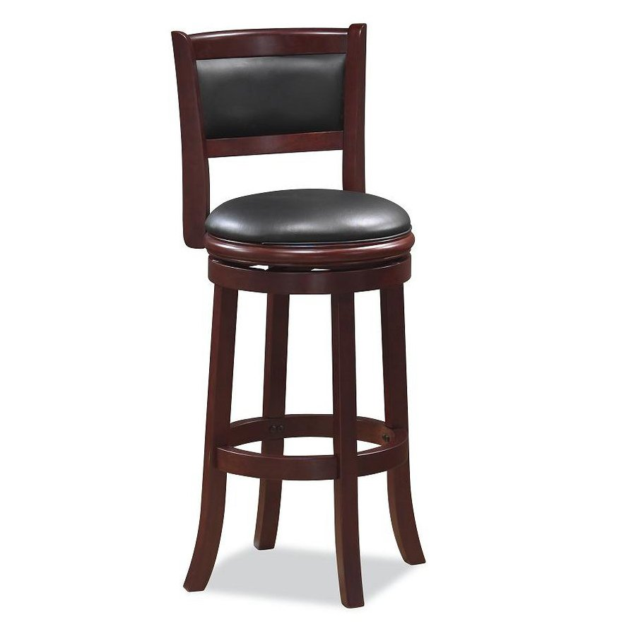 Boraam Industries Augusta Cappuccino 24-in Counter Stool