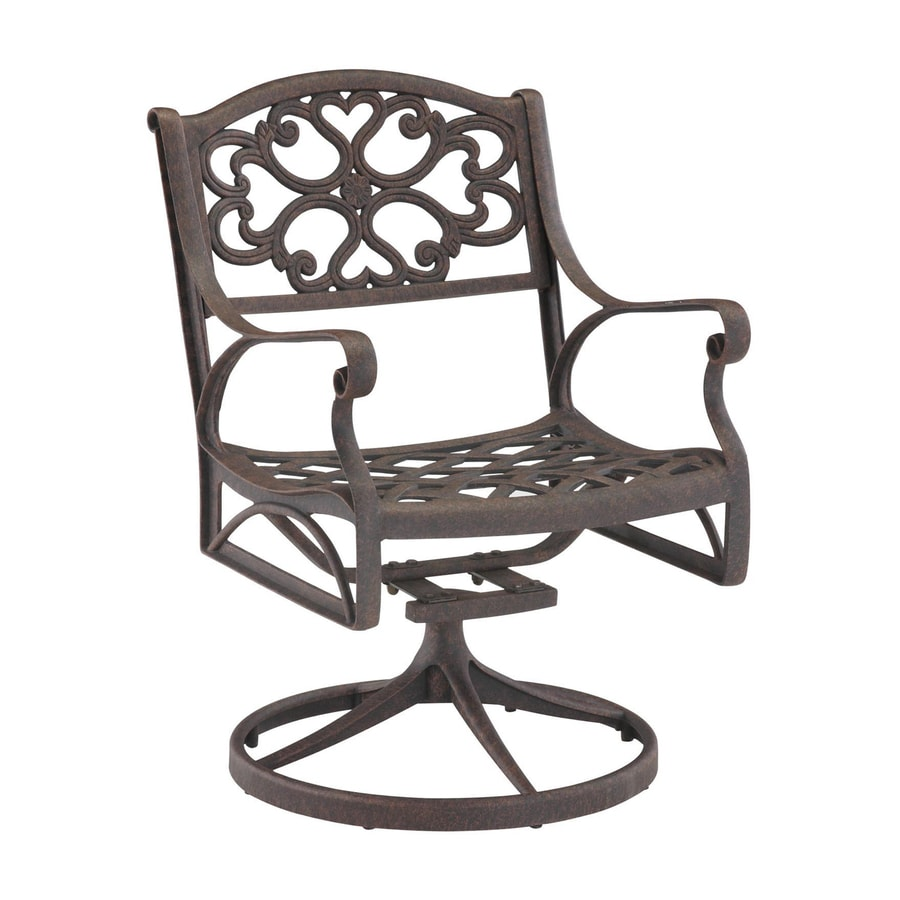 Home Styles Biscayne Rust Brown Aluminum Patio Rocking Chair