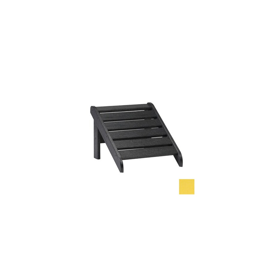 Siesta Furniture 19-in L x 17-in W x 13.5-in H Bright Yellow Plastic Stool