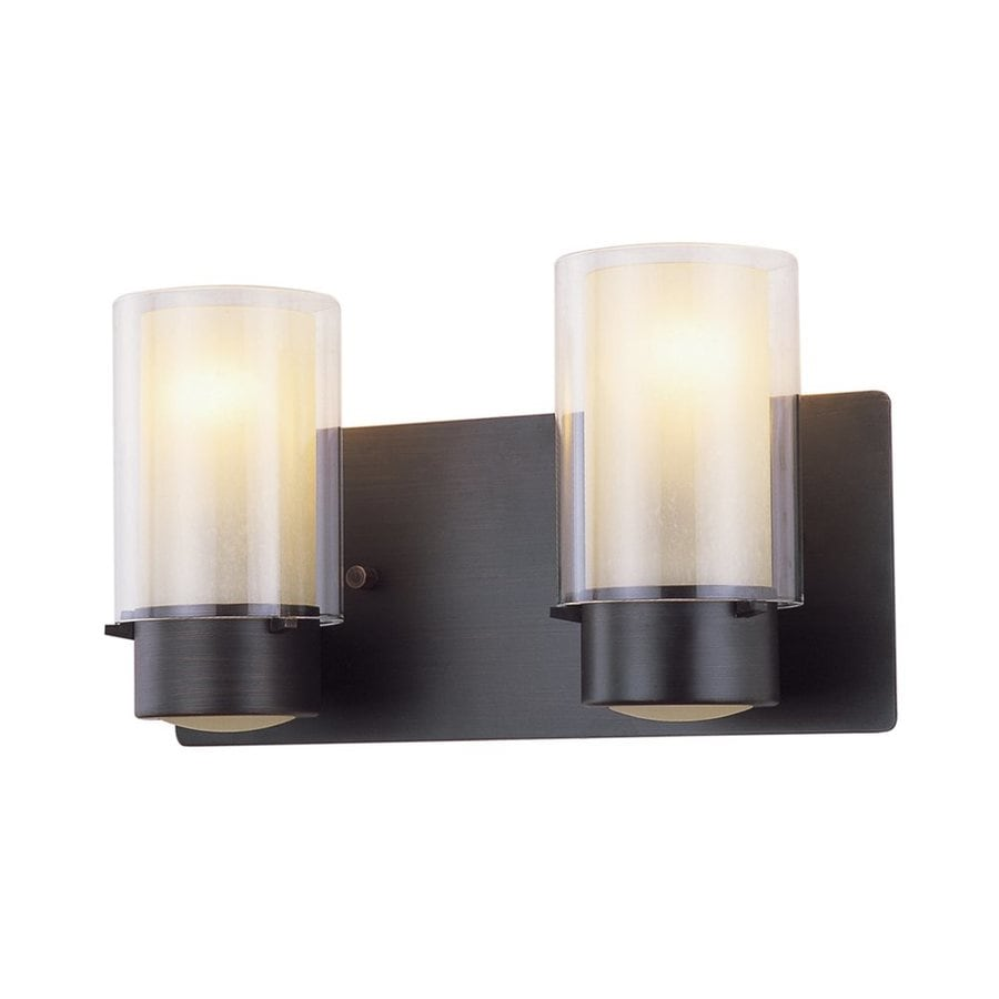 DVI Essex 2-Light 7.5-in Oil-Rubbed Bronze Cylinder Vanity Light